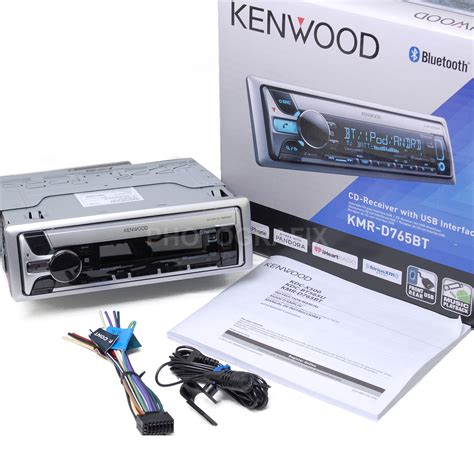boat stereo bluetooth kenwood kmr d765bt marine boat stereo cd receiver