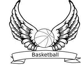 basketball coloring page basketball wings clip at clker vector clip