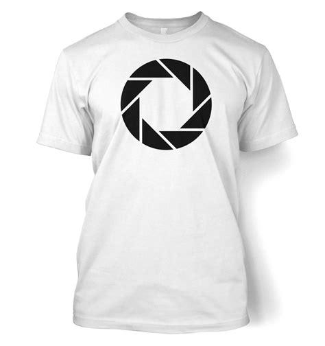 Tshirt Aperture aperture science logo t shirt somethinggeeky