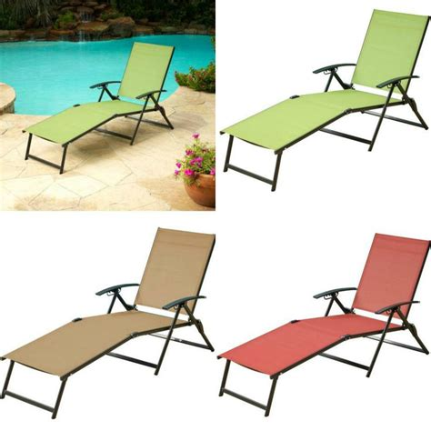 Folding Patio Lounge Chairs Lounger Outdoor Folding Chaise Lounge Chair Patio Furniture Pool Deck Seat New Ebay