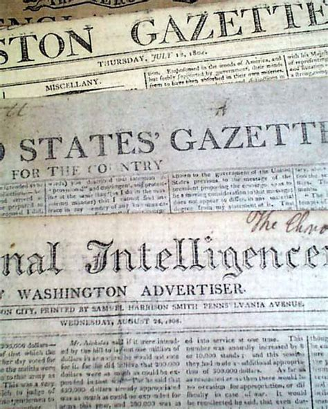 19th Century U S Newspapers Lot Of 5 Early 19th Century Pre War Of 1812 1802 1809 Original Newspapers