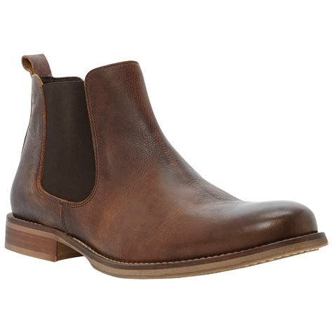 bertie clapham common leather chelsea boots in brown for