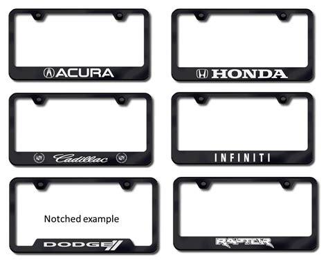 Frame Lf 2187 Pg etched black license plate frames custom license plate