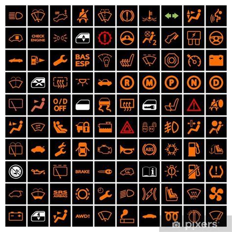 aufkleber auto armaturenbrett icons pixers wir leben