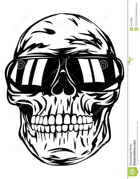 Skull In Sunglasses Stock Vector - Image: 39416869
