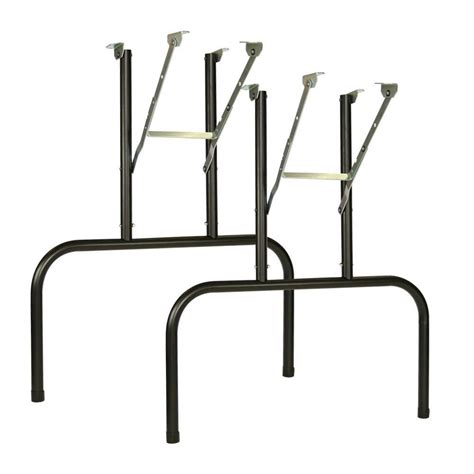 Folding Banquet Table Legs with Waddell 100 29 In Steel Finish Banquet Table Leg 10001539 The Home Depot