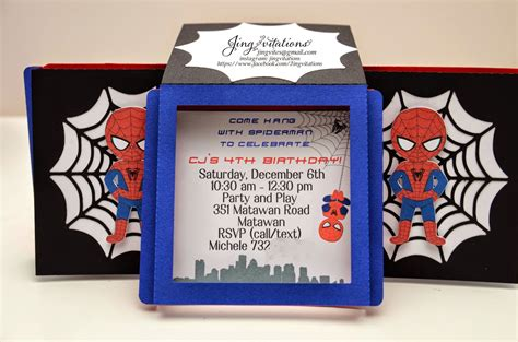 Spider Baby Shower Theme by Birthday And Baby Shower Invitations Handmade