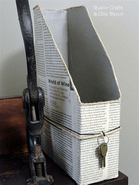 Craft Paper Holder - back to school organizing ideas rustic crafts chic decor