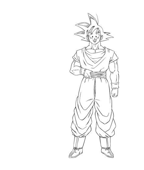 imagenes de goku normal para colorear tutoriales tutorial pintar un dibujo dragon ball con