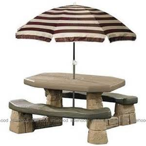 Step 2 Umbrella For Picnic Table Step2 Naturally Playful Picnic Table With Umbrella