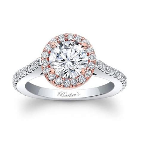 Two Tone Halo Engagement Ring - barkev s two tone halo engagement ring 7933lt barkev s