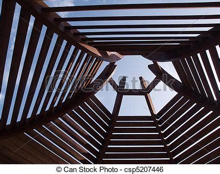 stock image of modern pergola arbor modern classical