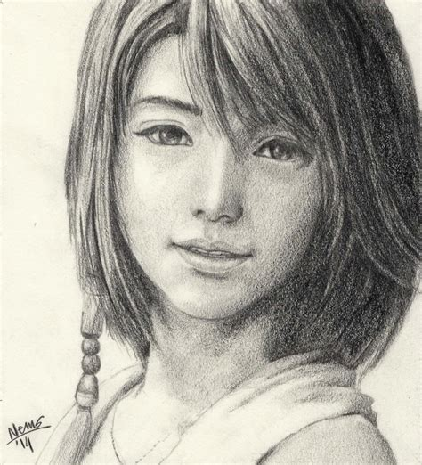 Portraits And Sketches by Portrait Sketch Yuna From X Easel Journeys