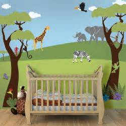 Wall Murals For Nursery jungle wall mural stencil kit for baby nursery wall mural