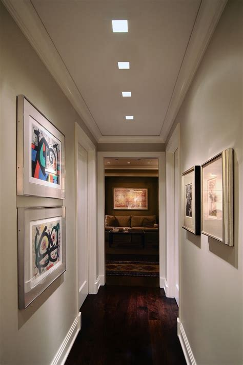 Best Ceiling Lights For Hallways Lighting Idea For Hallway Plaster In Recessed Lighting Dual Square Edge By