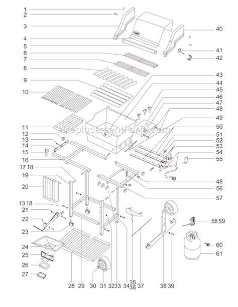 weber genesis parts diagram weber 211701 parts list and diagram ereplacementparts