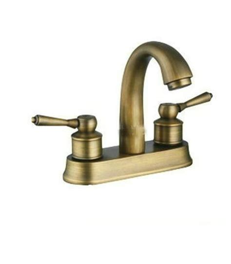 antique brass bathroom sink faucets european style antique brass two handle centerset bathroom