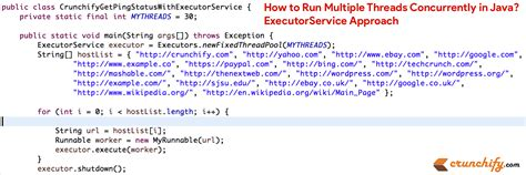 tutorial java executor how to run multiple threads concurrently in java
