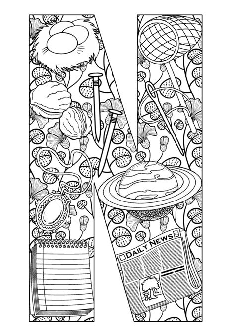 free objects starts with n coloring pages