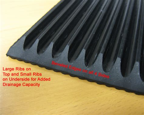Rubber Mats For Garage Floor by Heavy Duty Rubber Ribbed Mats By American Floor Mats