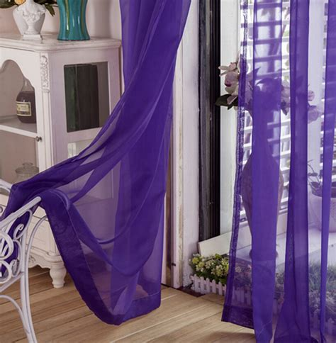 violet sheer curtains elegant window treatment purple sheer curtains