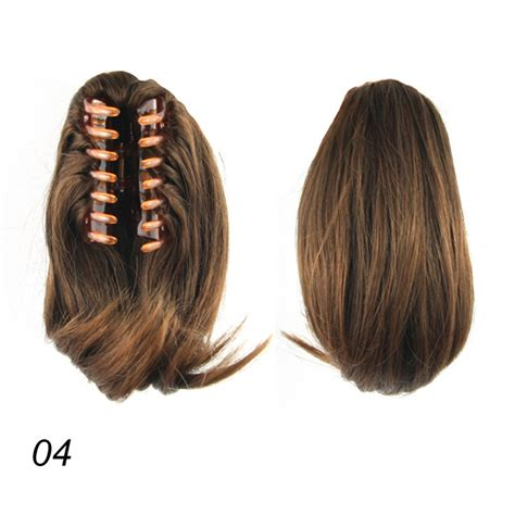 woman hair piece women clip in ponytail pony tail hair extension wrap on