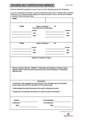 self certification form template fillable guildfordandwaverleyccg nhs form sca