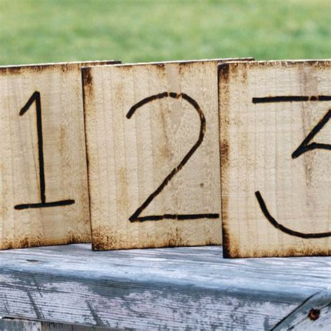 Rustic Table Numbers by Rustic Engraved Wood Table Number