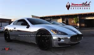 Maserati Wrap Maserati Granturismo Wrapped In Chrome Photo Gallery