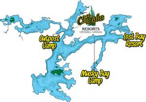 eagle lake canada map northwest ontario fishing trips cliff lake resorts