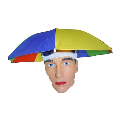 umbrella hat umbrella hat multi colour foldable sun umbrella hat for outdoor hiking cing ebay