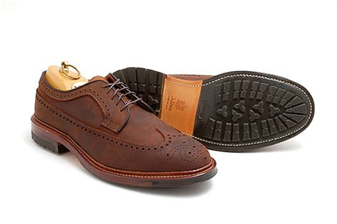 Almost Casual Formal Longwing alden chamois longwing blucher shoes leather footwear