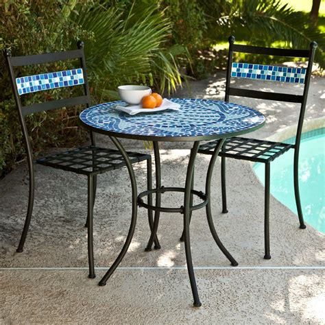 Diy Outdoor Bistro Table Mosaic Bistro Table Set Diy Mosaic Table Home Furniture And Decor