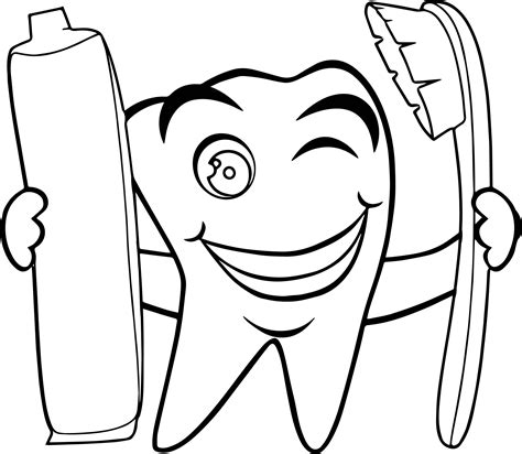 tooth coloring pages tooth paste dental coloring page wecoloringpage
