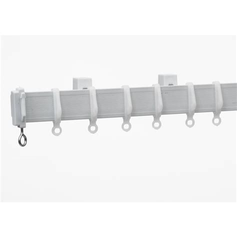 pvc curtain rail wilko curtain track white plastic 200 x 2 6cm at wilko com