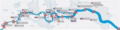 thames river map london ontario plan for 13 extra london river crossings construction