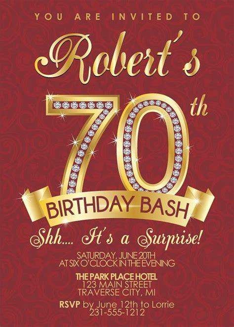 70th birthday invites templates 70th birthday invitation birthday invitation
