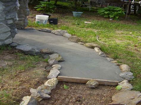 pathway ideas outdoor how to build diy cement walkway ideas diy