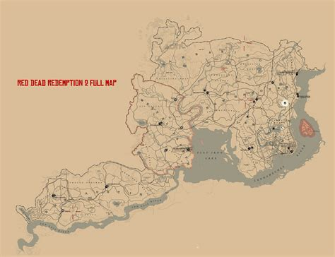 Sketched Map Rdr2 dead redemption 2 map attack of the fanboy