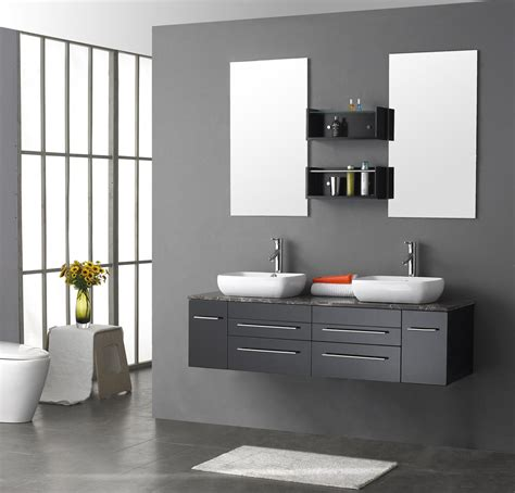 bathroom furnishing ideas modern grey bathroom decor wall mounted bathroom