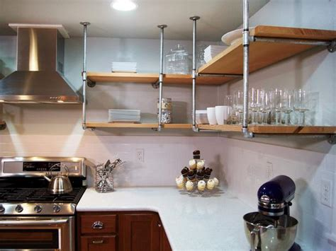 diy open shelving kitchen 13 best diy budget kitchen projects diy kitchen design ideas kitchen cabinets islands