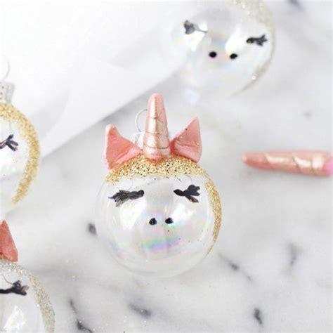 diy unicorn ornaments craft gawker christmas unicorn