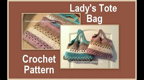 tote bag pattern free youtube lady s tote bag crochet pattern youtube