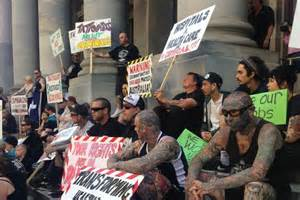 new tattoo laws qld sa tattoo workers protest proposed laws to regulate the