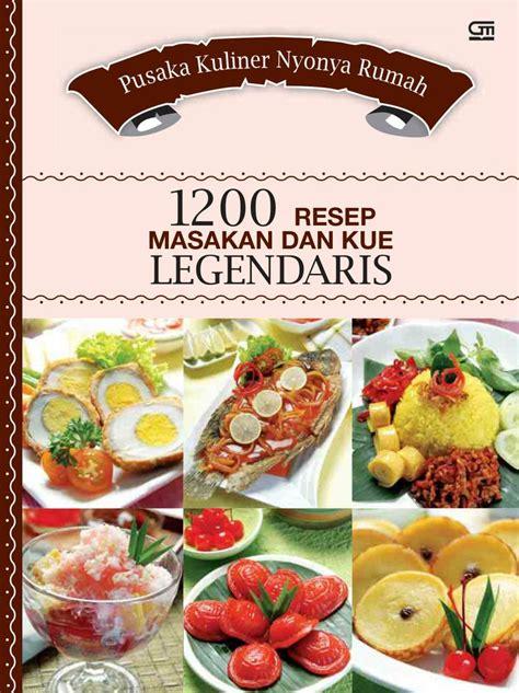Buku Masakan Hidangan Indonesia Populer jual buku pusaka kuliner nyonya rumah 1200 resep masakan