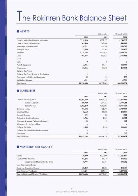 bank balance sheet best photos of bank balance template bank reconciliation