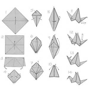 Make A Paper Bird - craft origami flapping paper crane mobile