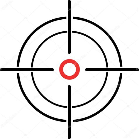 printable crosshair targets illustration of a crosshair reticle on a white background