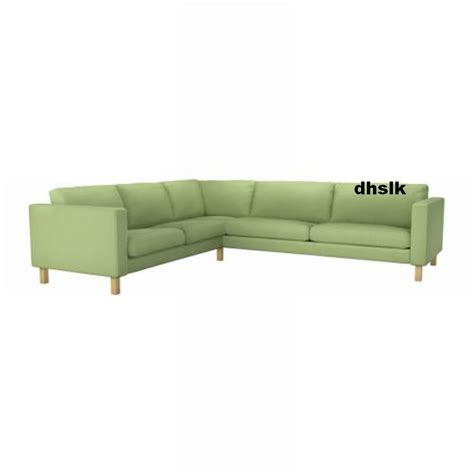 karlstad sectional cover ikea karlstad corner sofa slipcover cover korndal green 2
