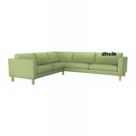 ikea karlstad corner sofa slipcover cover korndal green 2